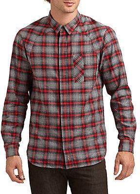 Rogan Plaid Flannel Sportshirt/Slim-Fit