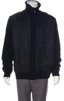 Saks Fifth Avenue Rib Knit Zip Jacket