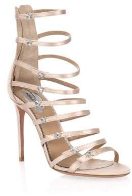 Aquazzura Claudia Schiffer X Crystal Star Sandals