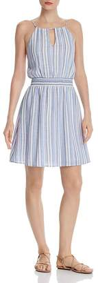 Aqua Striped Fit-and-Flare Dress - 100% Exclusive