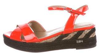 Sonia Rykiel Patent Leather Espadrille Sandals