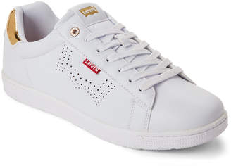 Levi's White & Gold Selena Low-Top Sneakers