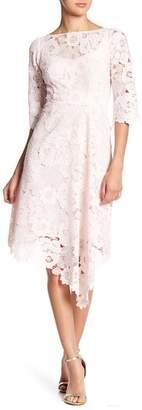 Nanette Lepore Bailamos Lace Asymmetrical Hem Dress