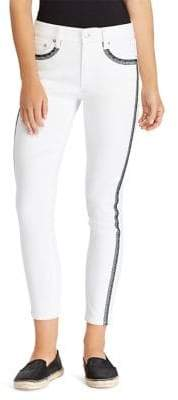 Lauren Ralph Lauren Petite Superstretch Embroidered Premier Skinny Cropped Jeans