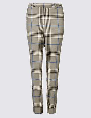 The Everywear Trouser Checked Ankle Grazer Slim Leg Trousers