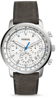 Fossil Goodwin Chronograph Gray Leather Watch