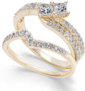 Macy's Diamond Two Souls Bridal Set (7/8 ct. t.w.) in 14k Gold