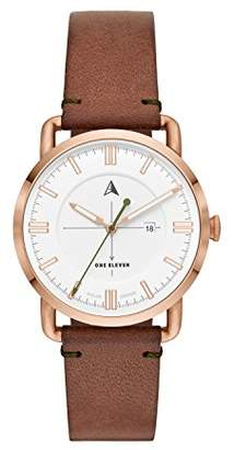 Eleven Paris One Women's Quartz Stainless Steel and Leather Watch