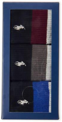 Polo Ralph Lauren 3-Pack Stripe Crew Sock Gift Box