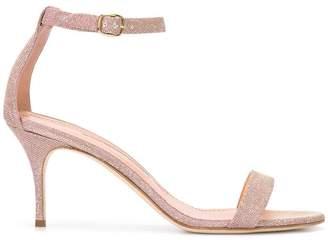 Manolo Blahnik slingback glitter sandals
