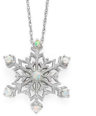 JCPenney FINE JEWELRY Lab-Created Opal Snowflake Pendant Necklace