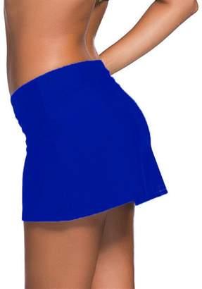 Gludear Women Swim Skort Waistband Skirt Bikini Bottom Swimsuit Boardshort