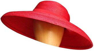 Givenchy Vintage Red Wicker Hats