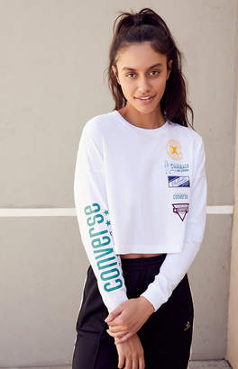 Converse Cropped Long Sleeve T-Shirt