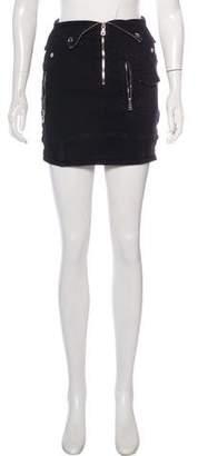 RtA Denim Distressed Mini Skirt