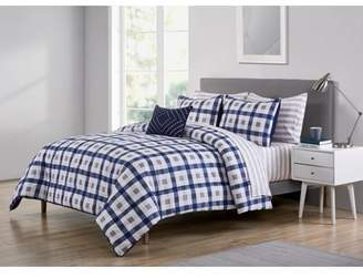 Mainstays Hicks Check and Stripe 6/8 Piece Bed in a Bag, Sheet Set Included, Multiple Sizes Available