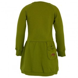 Oilily Green Cat Print Sweater Dress