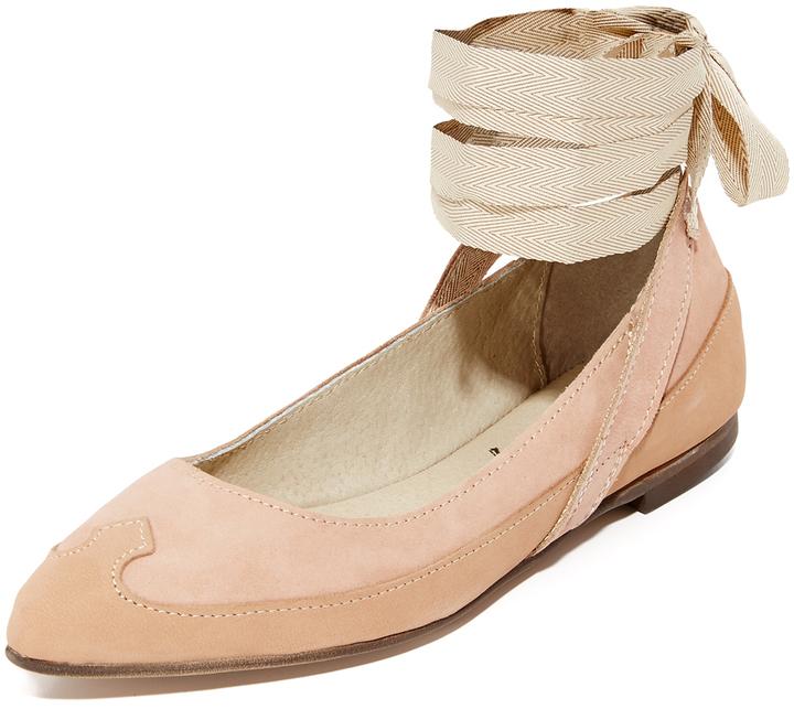 Free People Pressley Wrap Ballet Flats