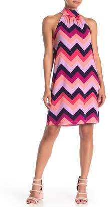 Trina Turk trina Craving Zig Zag Printed Halter Dress