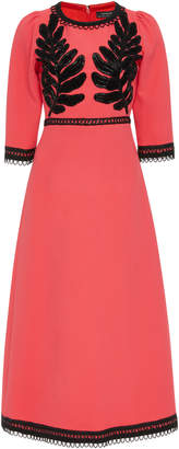 Andrew Gn Bead Embellished Crepe Midi Dress