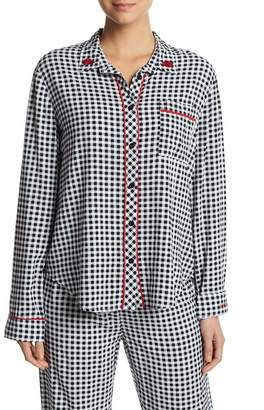 PJ Salvage Long Sleeves Rock N Rose Pajama Top