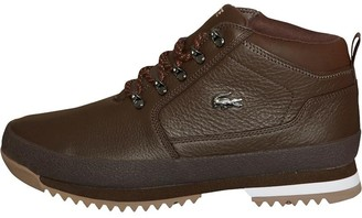 d9abeadb0 Lacoste Mens Upton Hiker Leather Boots Brown Black