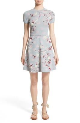 Women's Valentino Floral Jacquard Knit Dress $2,950 thestylecure.com