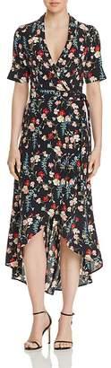 Equipment Imogene Floral-Silk Wrap Dress