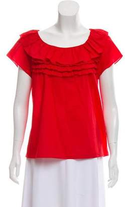 Marc by Marc Jacobs Ruffle- Accented Top