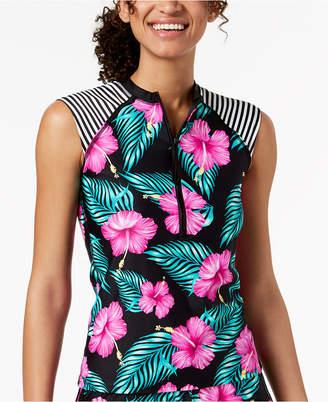 Body Glove (ボディー グローヴ) - Body Glove Juniors' Molokai Printed Sleeveless Rash Guard Women's Swimsuit