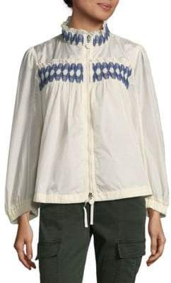 Moncler Gathered Trim Jacket