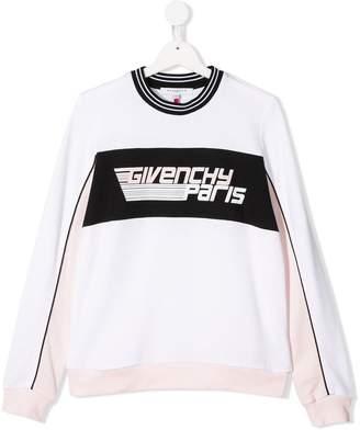 Givenchy Kids TEEN logo print sweater