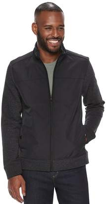Apt. 9 Men's Textured Mixed Media Jacket