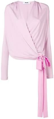 MSGM side tie blouse