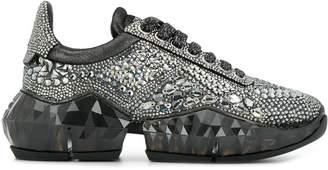Jimmy Choo Diamond crystal embellished sneakers