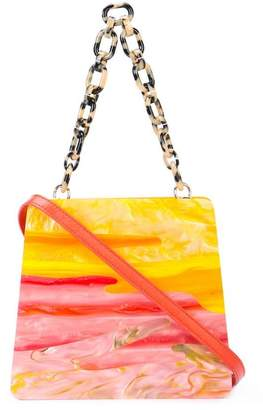 Edie Parker sunset structured tote
