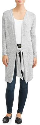 Thyme + Honey Women's Extra Long Sleeve Front Tie Long Cardigan
