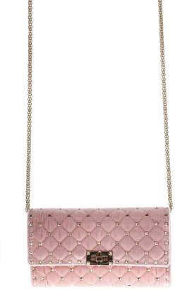 Valentino Spike Pink Studs Shoulder Bag