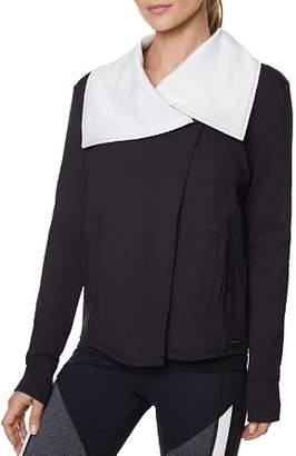 Betsey Johnson Draped-Lapel Asymmetric Jacket