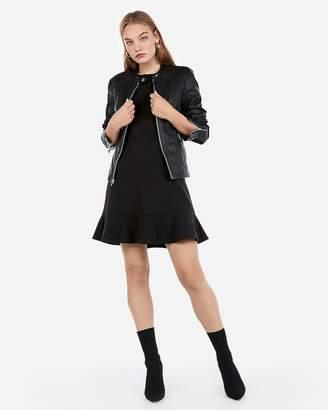 Express Minus The) Leather Double Peplum Jacket