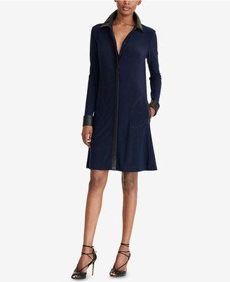 Lauren Ralph Lauren A-Line Jersey Shirtdress $154 thestylecure.com