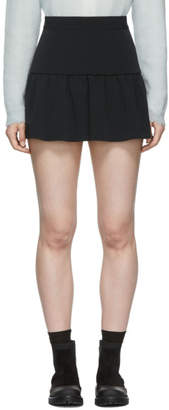 RED Valentino Black Gathered Miniskirt