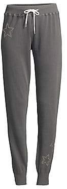 Monrow Women's Cotton Star Sweatpants