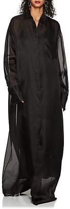 The Row Women's Siena Silk Organza Shirtdress - Black