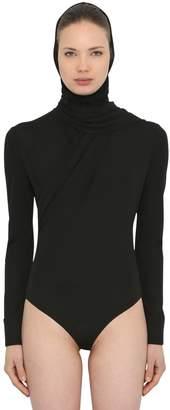 Versace Hooded Jersey Bodysuit