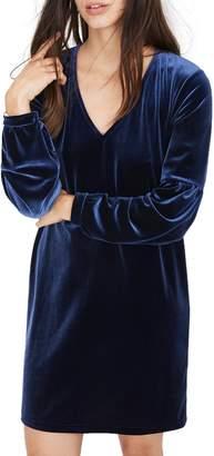 Madewell Balloon Sleeve Velvet Dress