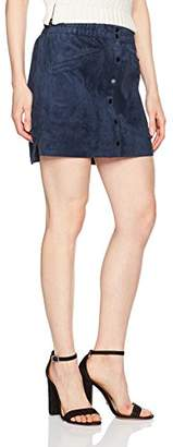 BCBGMAXAZRIA Women's Mora Faux Suede Skirt
