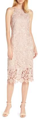Sam Edelman Halter Top Lace Midi Dress
