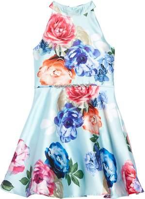 84c1a0323 Zunie Floral Mikado Fit & Flare Dress