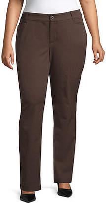 ST. JOHN'S BAY Bi-Stretch Straight Leg Pant - Plus